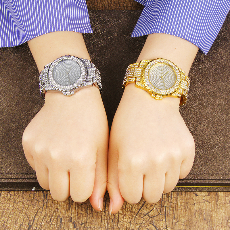 Hip Hop Bling Diamond Watch for Women Iced Out Gold Tone Womens Quartz Watches Female Full Crystal Dial Ladies Dress WristwatchHip Hop Bling Diamond Watch for Women Iced Out Gold Tone Womens Quartz Watches Female Full Crystal Dial Ladies Dress Wristwatch