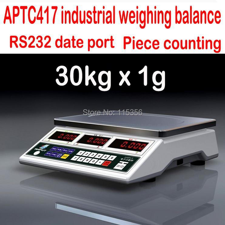 Precision 30KG-1g 417 industrial weighing counting scale heavy weighing kitchen balance