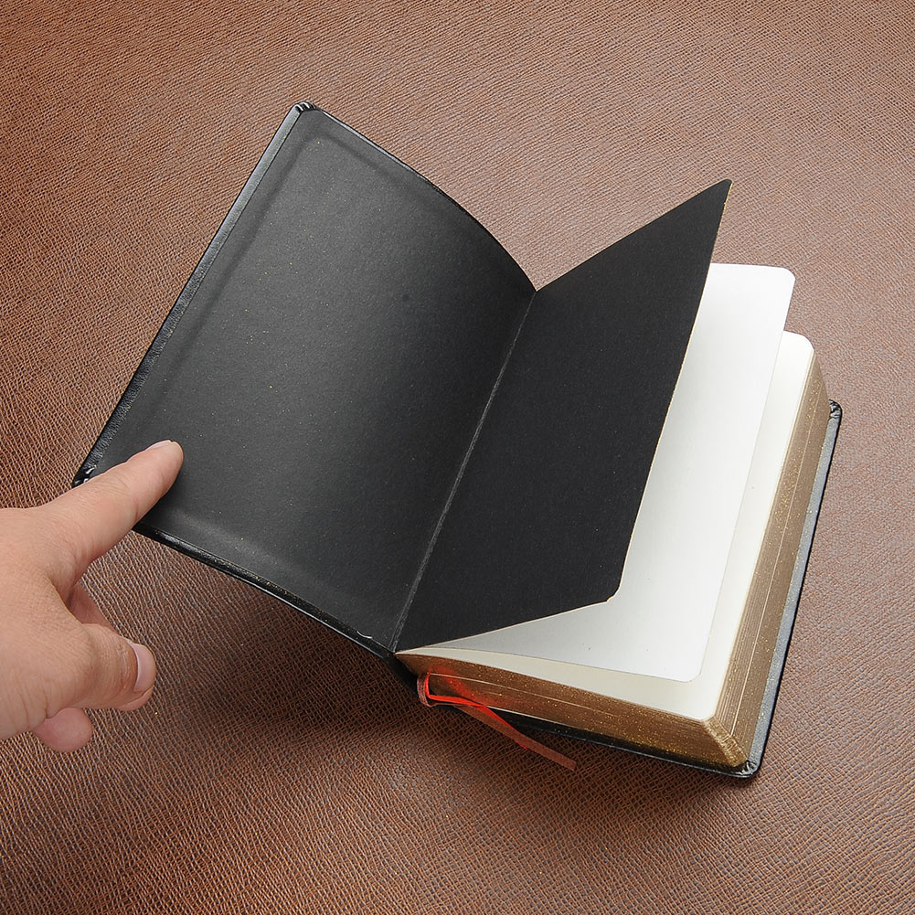 Classic Leather Cover Thick Blank Pages Notebook Diary Sketchbook Notepad AU цена