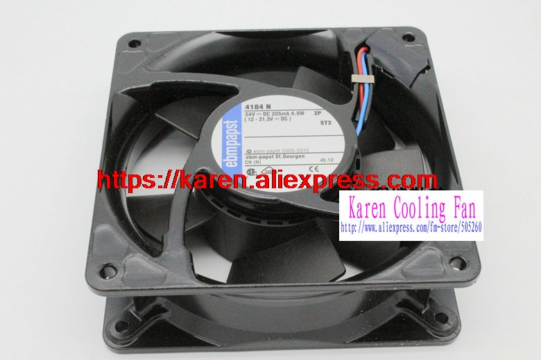 New Original EBM PAPST 4184 N 24V 4.9W 120*120*38MM 12cm Inverter cooling fan TYP4184 4184 NMCR new original german ebm papst rl90 18 56 ac220v 20w centrifugal blower cooling fan