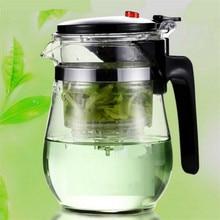 500 ml hitzebeständigem glas puer teekanne tee puer oolong kaffee tee wasserkocher kaffee teekanne komfortable büro tee-set 1 stücke
