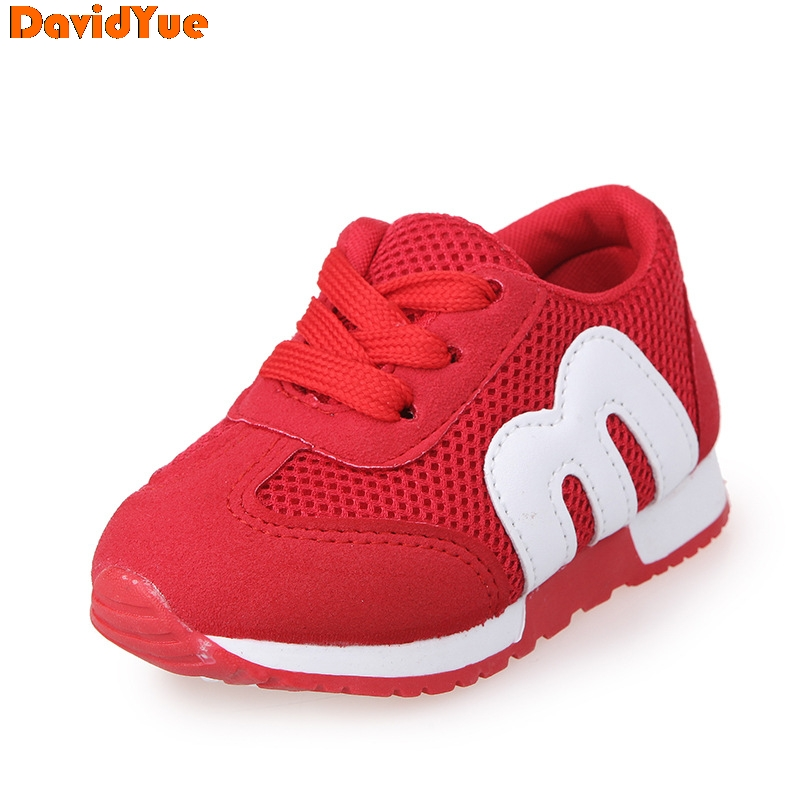 2017 Davidyue New Kids  Girls Boys  Sneakers Shoes  Baby Fashion Mesh  Causual Flat Sneakers  Loafers Shoes 4 Color