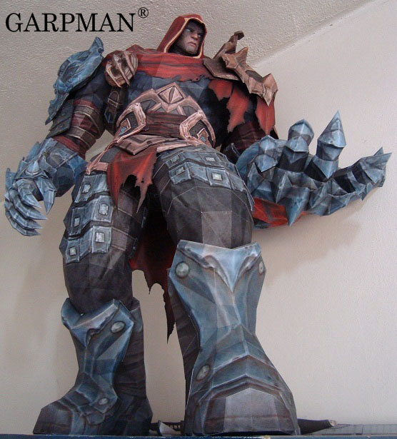 80cm Darksiders Wrath War Guerra Paper Model kreisberg andrew darksiders ii death s door