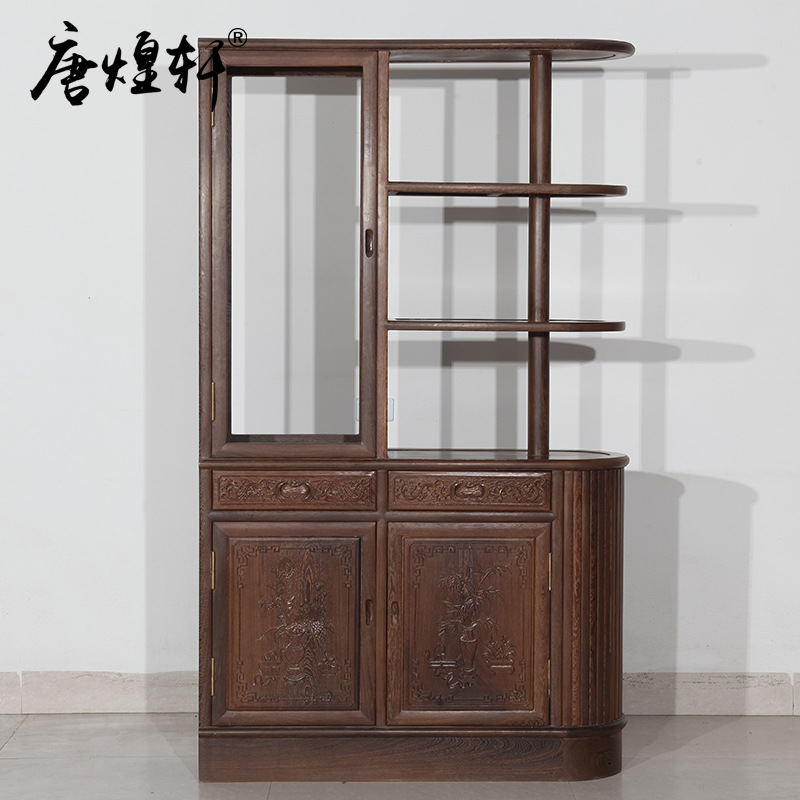 Mahogany Furniture Wooden Cabinet Wood Cabinet Chinese Living Chinese Classical Partition Locker Cabinet Special Offer