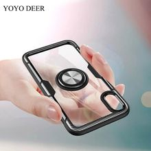YOYODEER Clear Phone Case for Apple iPhone X XS Max XR Luxury Magnetic Car Holder Fundas Housing Coque Back Cover for iPhoneX