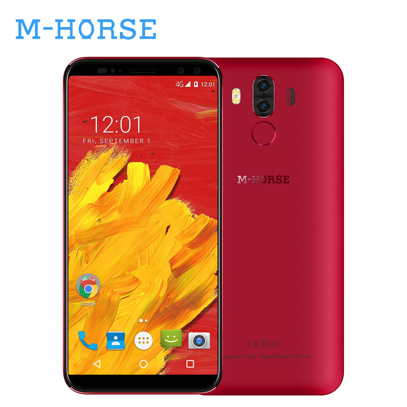 M-HORSE Pure 3 4G Smartphone 5.7 Inch 18:9 Full Screen Android 7.1 4G 64GB Octa Core 4000mAh 13.0MP Fingerprint Phone Celular