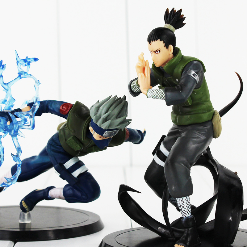 New arrival Naruto 2 styles Nara Shikamaru Shippuden Hatake Kakashi PVC figure toy doll sahoo 45545 outdoor cycling polyester arm sleeves white green pair xxl