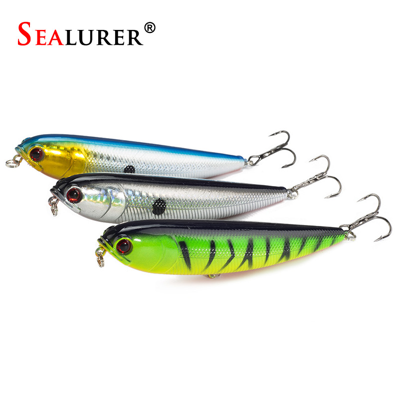 1PCS Topwater Pencil Lure Fishing Bait 115mm 20g Artificial Minnow Hard Lures Baits 12CM 22G wldslure 1pc 54g minnow sea fishing crankbait bass hard bait tuna lures wobbler trolling lure treble hook