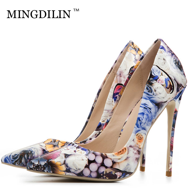 MINGDILIN Sexy Women's High Heels Shoes Plus Size 33 43 Woman Heel Wedding Shoes Bride Pointed Toe Party Pumps Stiletto Stripe mingdilin sexy women s heel shoes high heels shoes woman pumps plus size 33 43 pointed toe ping red wedding party pumps stiletto