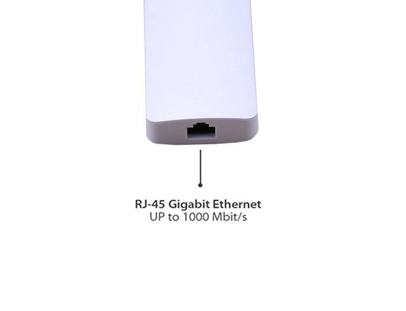 Adaptateur vidéo de Type C HUB 4 K HDMI VGA vers TV, USB 3.0/lecteur de carte adaptateur Ethernet Lan RJ45 pour Macbook air pro pour Lenovo Yoga 900 - 4