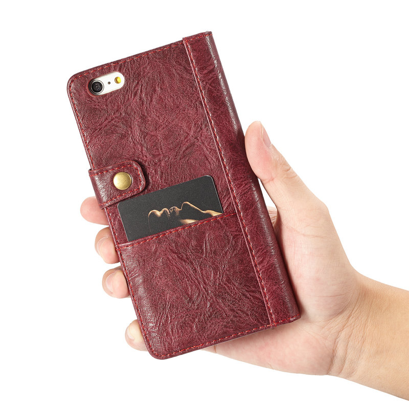 CaseMe Universal Retro Leather Wallet Case For iPhone 6plus With Card & Cash Slots