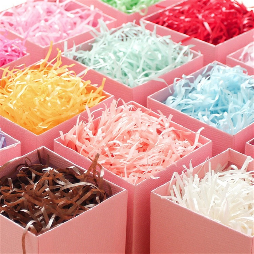 Party Decoration Wrapping Supplies Gift Box Filler Raffia Shredded Paper