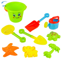 9pcs/lot XFC Children Kids Sand Shovel Spade Sand Building Molds Sandpit Beach Seaside Garden Toy Watering Can Moulds