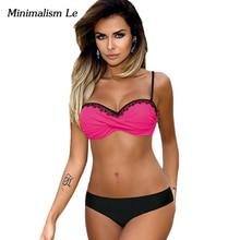 Lace Patchwork Bikini Set