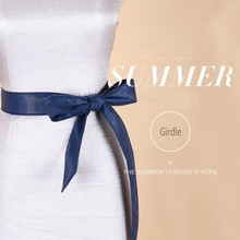 Summer lace up PU leather wide corset cummerbunds strap belts for women girls High Waist Slimming girdle Belt ties bow bands