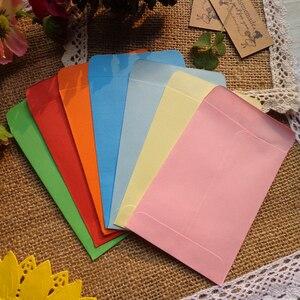 Image 1 - 20 Uds. De minisobres de papel en blanco de colores, 10 colores de caramelo, sobres, invitación de fiesta de boda, tarjetas de felicitación, bolsa de papel de regalo