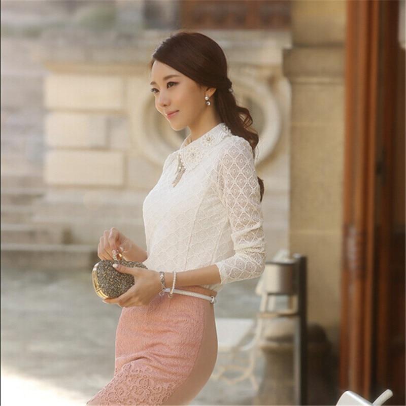 YEYELANA Women Lace Blouses 2017 Spring Summer New Elegant ...