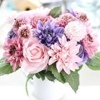 1 Set Fresh Home Art Rose Silk Bouquet Home Party Decoration Flower Artificial Beautiful Home Garden