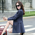 Mulheres cor sólida Slim Fit Trench Outwear casaco , casaco trespassado