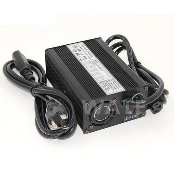 Cargador de 14,6 V 4A LiFePO4 para batería de 12V 20Ah 4S LFP, cargador de caja de aluminio con ventilador, conector a elegir 2