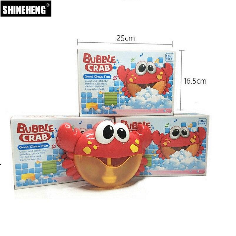 Nueva llegada de los cangrejos juguete del baño del bebé divertido Baño de burbuja de piscina bañera jabón máquina de juguetes para los niños