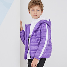 Fashion Warm and light and comfortable children's down jacket new Solid color hooded thin boys and girls Winter Coat jackets цена 2017