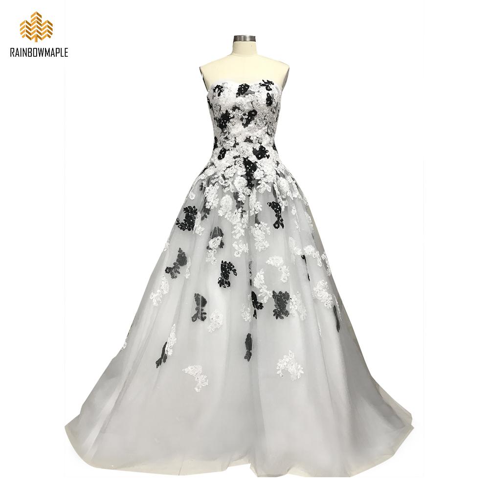 einzigartige schwarze und weiße spitze appliques wulstige trägerlose  ballkleid abendkleider formale korsett mieder lange abendgesellschaft  kleider