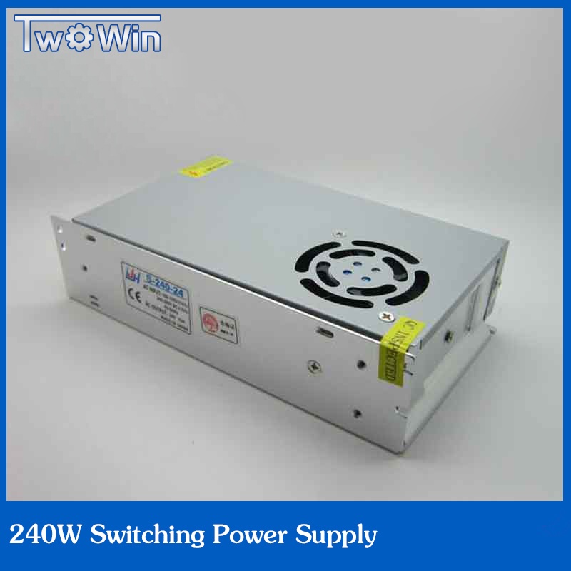 ФОТО 24V 10A 240W Power Supply switch driver for Strip led AC 100-240 V input to 24 V DC free shipping