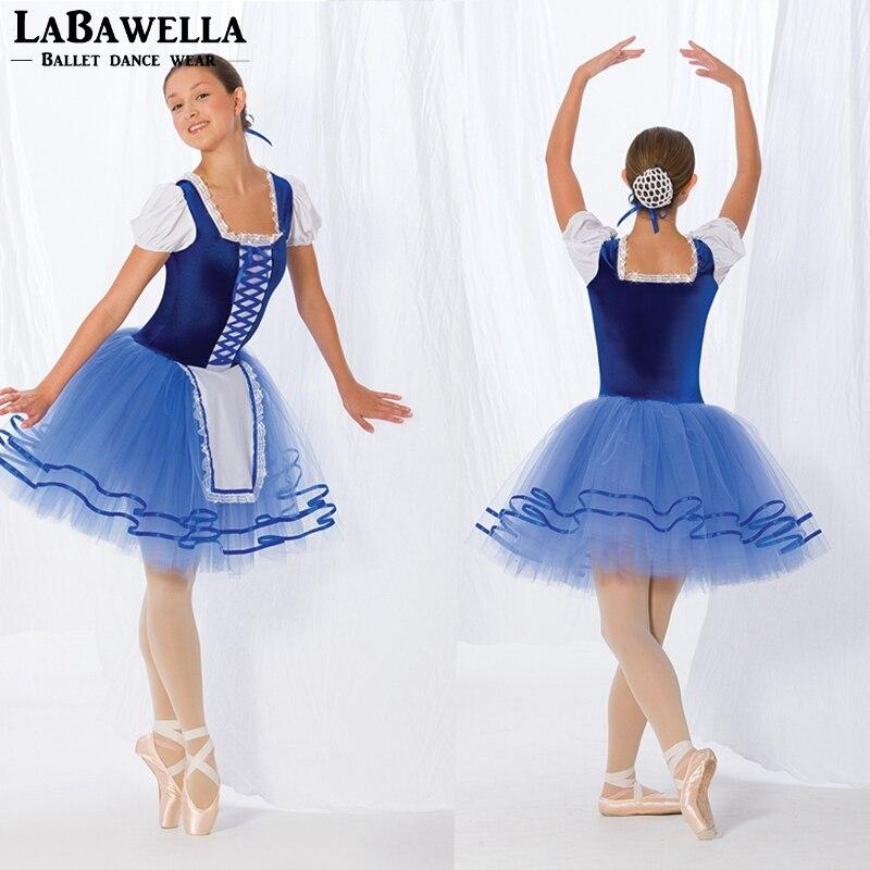 velvet body girls blue giselle performance ballet dance costumes tutu dress adult women coppelia ballerina costume dress BL0060
