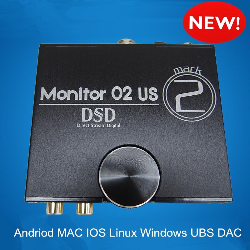 Musiland 02 US MARK2 Super DSP CPU FPGA 24bit/192KHz USB DSD DAC amp 32bit/384KHz digital output PC HiFi USB DAC DSD