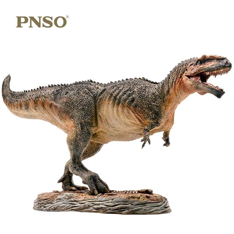 1:35 PNSO Giganotosaurus con plataforma Pedestal dinosaurio juguetes clásicos para niños colecciona muñeca de animales mandíbula móvil-in Figuras de juguete y acción from Juguetes y pasatiempos    3