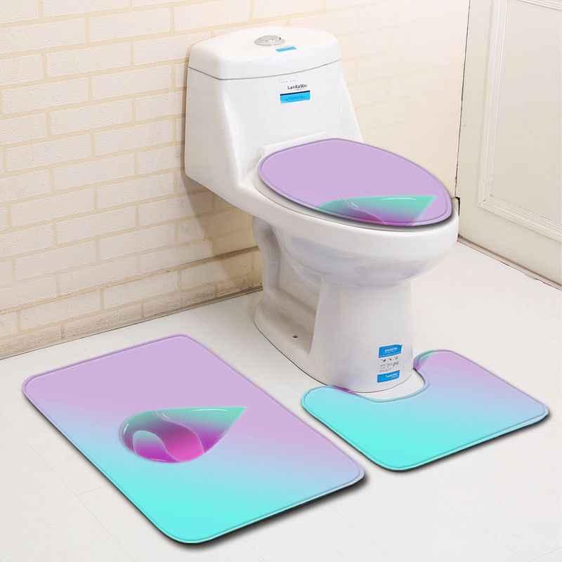 Miễn phí Vận Chuyển 3 cái Ảnh Màu Đen Water Drops Thảm Banyo Phòng Tắm Thảm nhà vệ sinh Tắm Mat Đặt Pad Tapis Salle De Bain Alfombra Bano