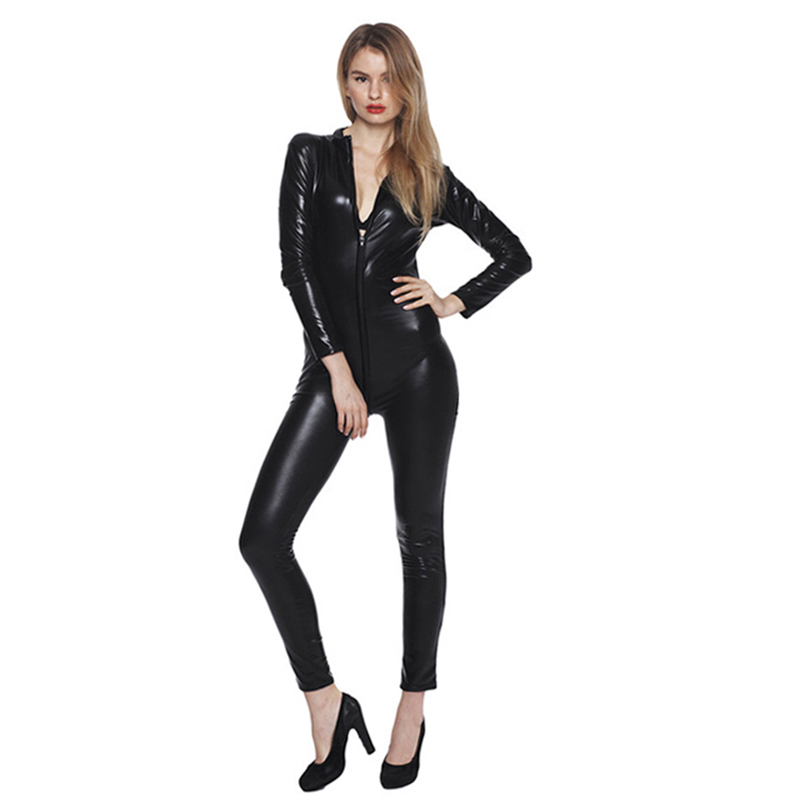 Plus Size Faux Leather Latex Clothing Sexy Pvc Crotch -3184