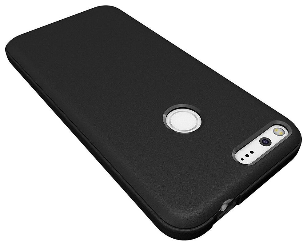 Matte Black Cases For Google Pixel Anti-Scratches TPU Gel Premium Slim Flexible Soft Bumper Protective Case Cover For Pixel XL