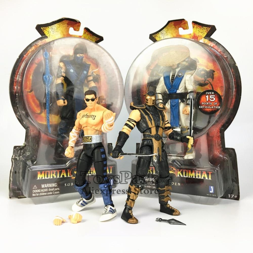 RARE Jazwares Mortal Kombat 20TH Anniversary Scorpion Johnny Cage Sub Zero Raiden MK9 6