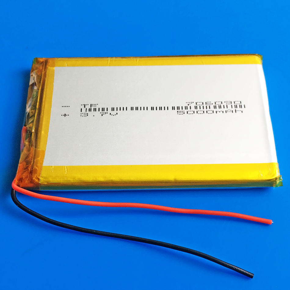 <font><b>3.7V</b></font> <font><b>5000mAh</b></font> Polymer Lithium <font><b>LiPo</b></font> Rechargeable <font><b>Battery</b></font> 706090 For GPS PSP DVD PAD E-book tablet pc laptop power bank video game image