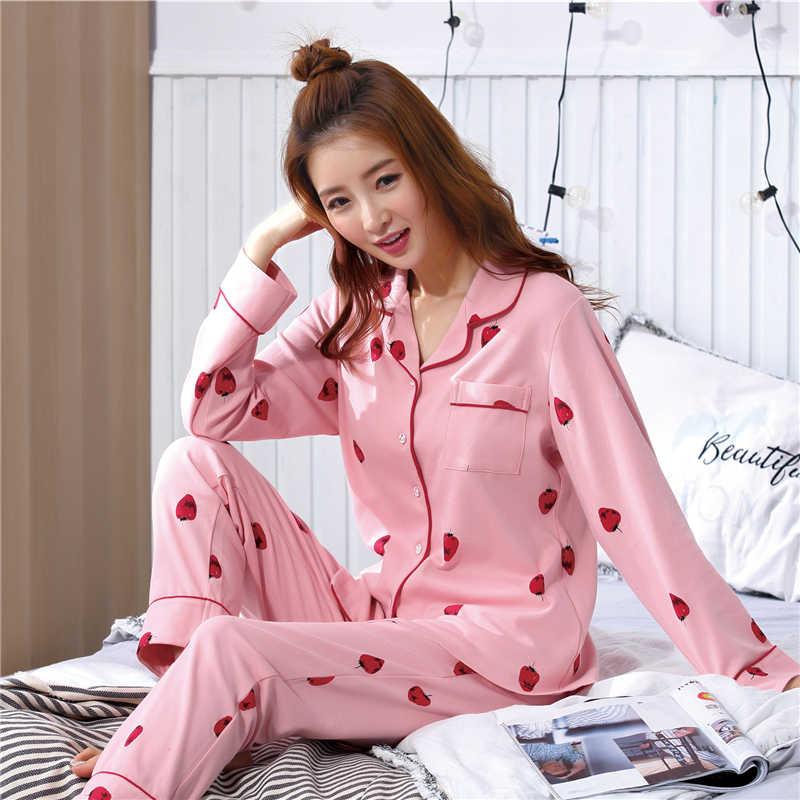 ad782cb99e ... Women Winter Pajama Set Soft Printing pijama Home Pyjamas Woman Cotton  Pyjama Set Sleepwear Plus Size ...