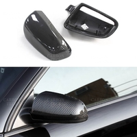 Carbon Fiber Rear side view cap mirror cover Gloss Black Replacement for For Audi A3 S6 A4 B7 Mirror Cover 2004 2005 2006 2007