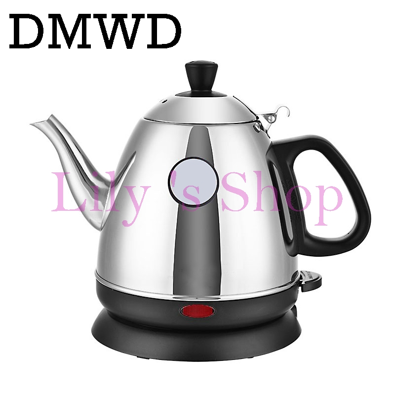 Electric kettles water heating stainless steel boiler hot drink split style teapot auto power off cup 0.8L 220V 1000W EU US plug kakw 20sa electric commercial 20l black steel wiredrawing water boiler