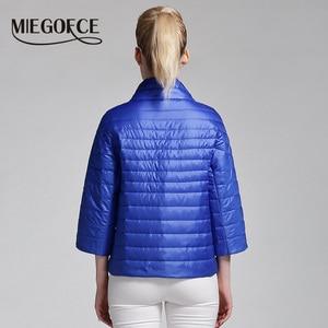 Image 4 - MIEGOFCE 2019 New Spring Short Jacket Women Fashion Coat Padded Cotton Jacket Outwear High Quality Warm Parka Womens Clothing