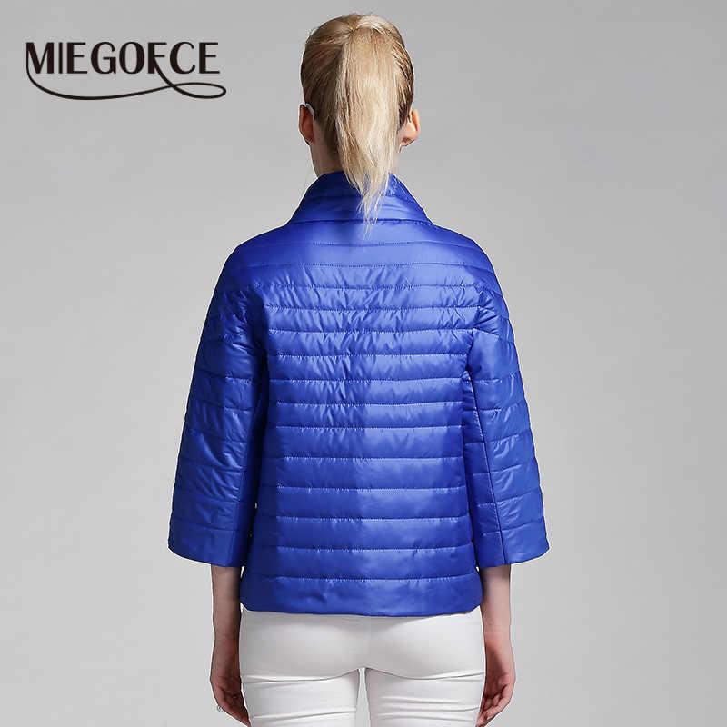 Miegfce 2019 nueva Chaqueta corta de primavera abrigo de moda para mujer chaqueta acolchada de algodón prendas de vestir Parka caliente de alta calidad ropa de mujer