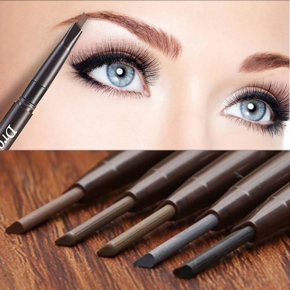 NEW 2019 Newest Female Beauty Eye Products 2 In1 Waterproof Eye Brow Eyeliner Pencil With Brush Makeup Cosmetic Tool