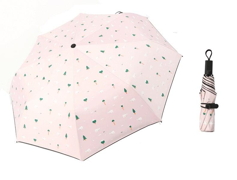 Three Folding Sunscreen Umbrella For Women Sunny Rainy Windproof Anti-UV Umbrella Women Lady Girls Folding Umbrellas (26)
