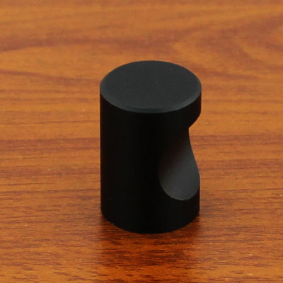 18mm modern round matte black wardrobe drawer pull kitchen for Matte black kitchen doors