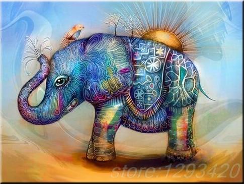 Diamond Painting Cross Stitch Patch Elephants 5d DIY Full Cross Stitch Kit