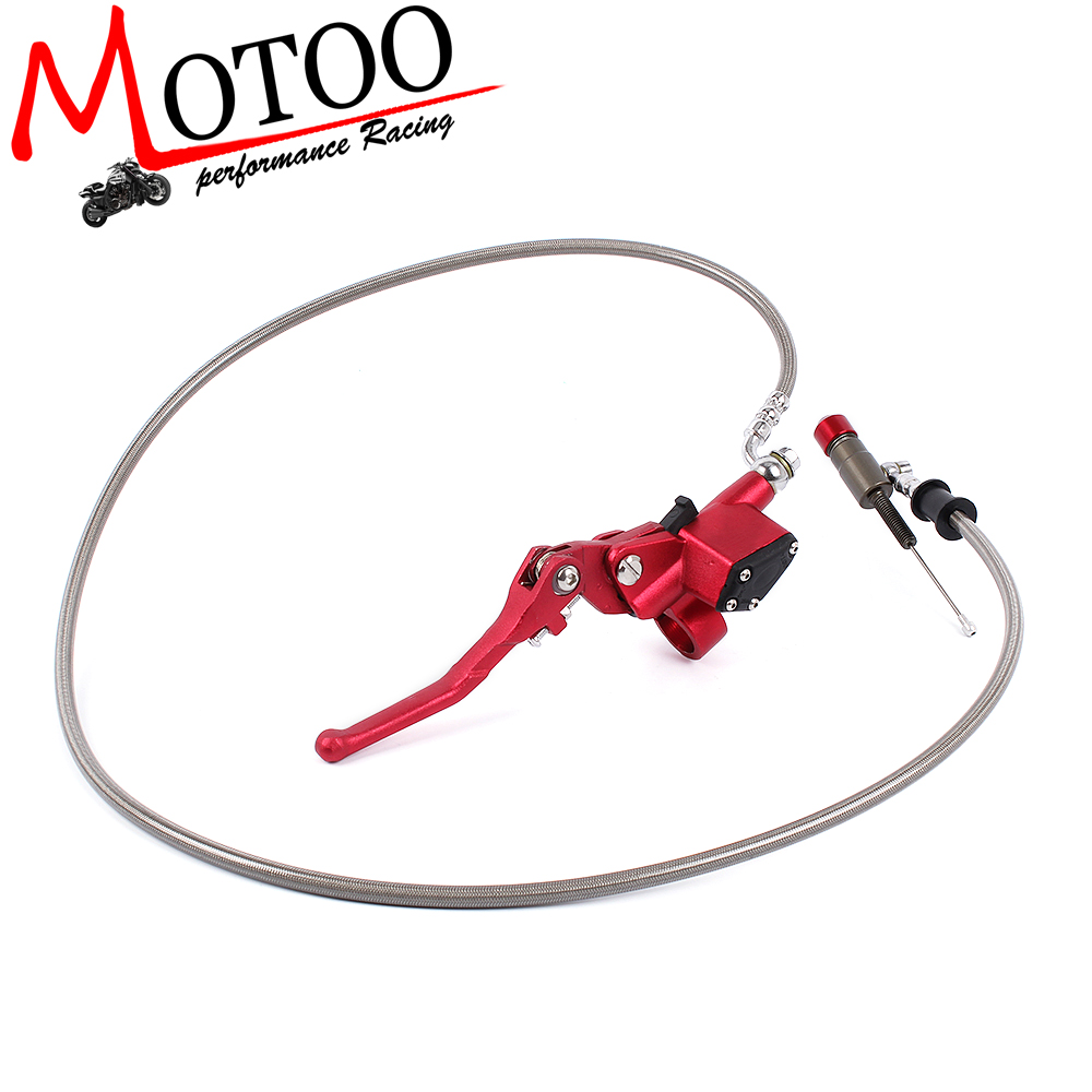 7/8 Inch Universal Motorcycle Pit Dirt Bike Hydraulic Brake Clutch Lever Master Cylinder 1200mm