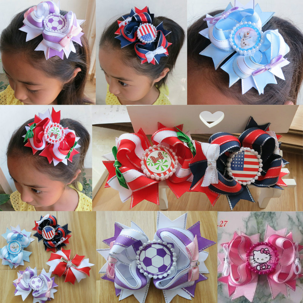 hand customize hair accessories FREE SHIPPING 30PCS FASHION BLESSING Good Girl Boutique Modern Style Dance Hair Bow Clip 128 электро скороварка good blessing home yp40d 2l 2 5l