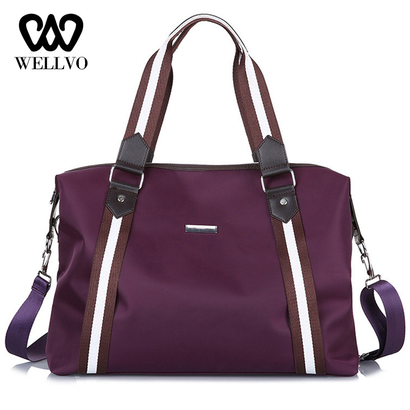 Fashion Travel Bag For Women Lightweight Weekend Bag Big Duffle Bags Travel Carry On Luggage Men Stripe Overnight Bag XA710WB