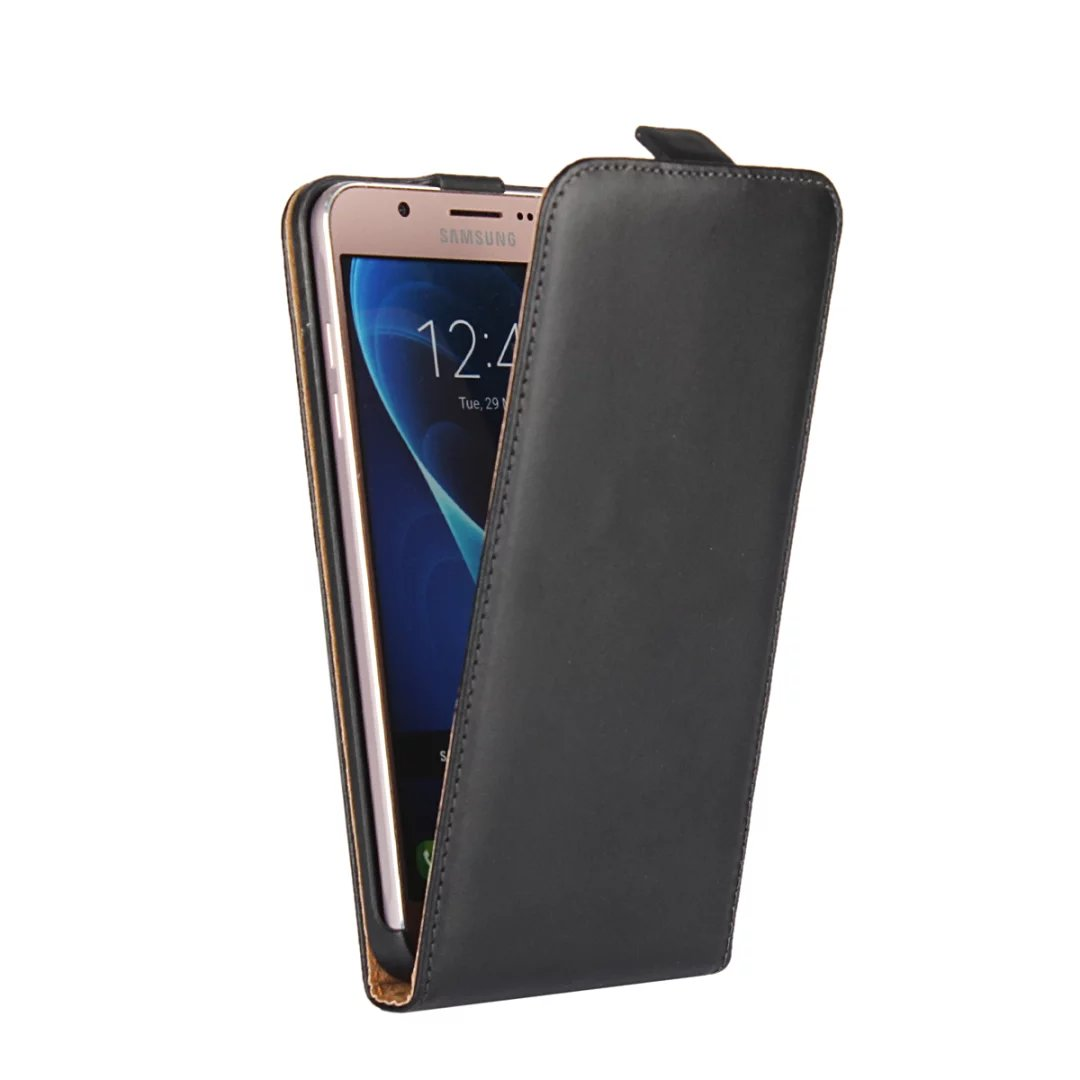 differently 585c9 80f41 US $4.57 25% OFF|Genuine Leather Magnetic Vertical Flip Case For Samsung  Galaxy J1 J3 J7 2016 leather case Up Pouch Cover Mobile Phone Bag-in Flip  ...
