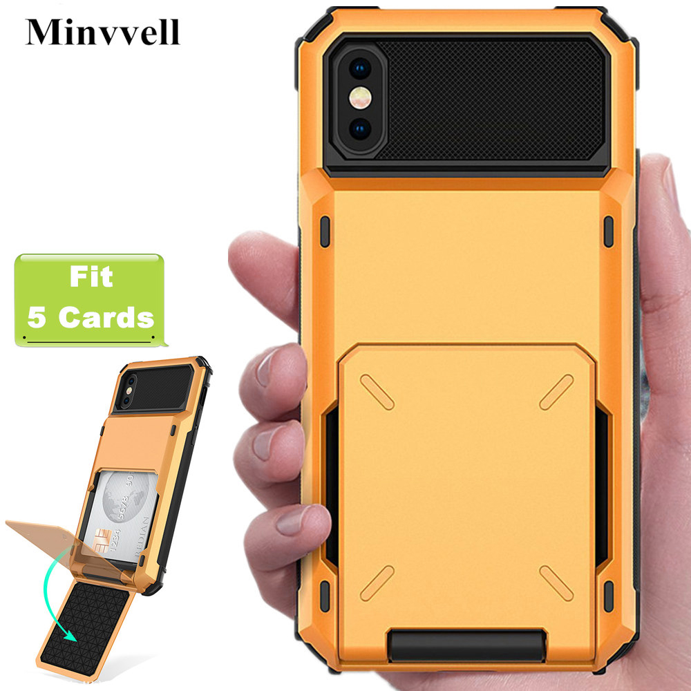 For IPhone X XS MAX XR Case Flip Card Slots Business Armor Case For IPhone XR XS MAX X 10 XS Cover For IPhone XSMAX Fundas Capa